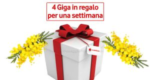Vodafone Happy 4 Giga in regalo Festa Donna 2018