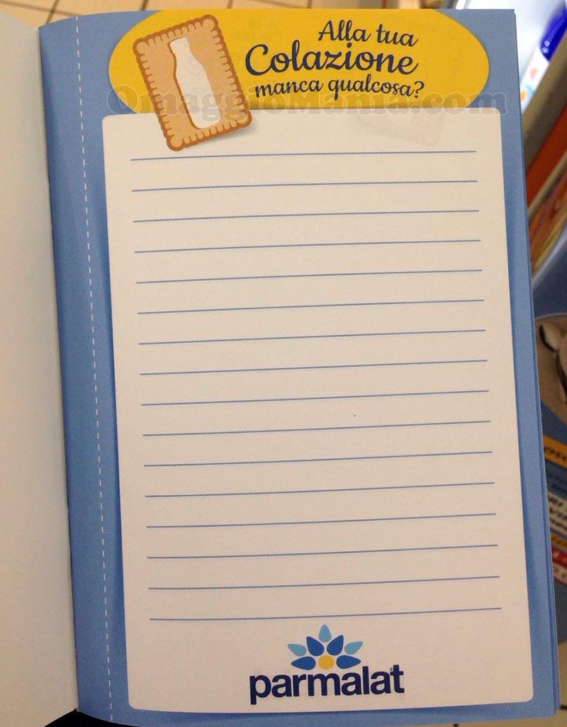 bloc notes Parmalat Puro Blu di Tatiana