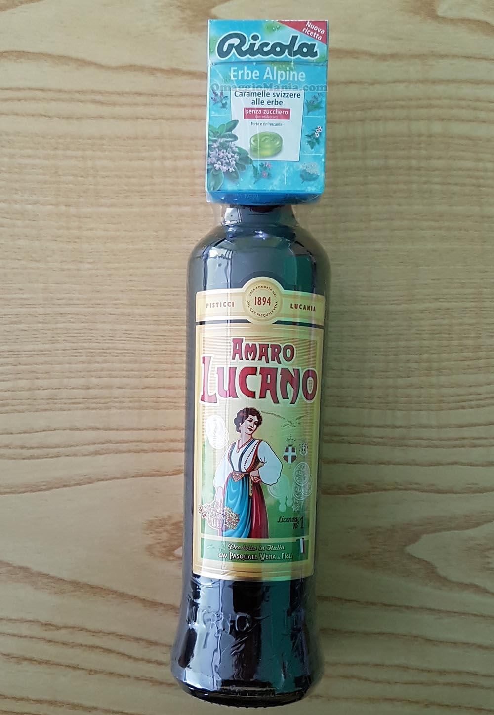 bottiglia Amaro Lucano con caramelle Ricola di Sabry77