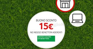 buono sconto 15 euro Benetton Vodafone Happy Friday 2018