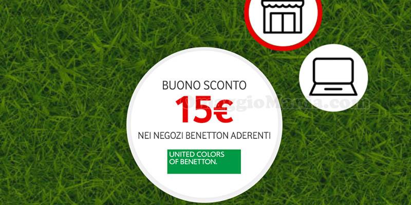 buono sconto 15 euro Benetton Vodafone Happy Friday 2018