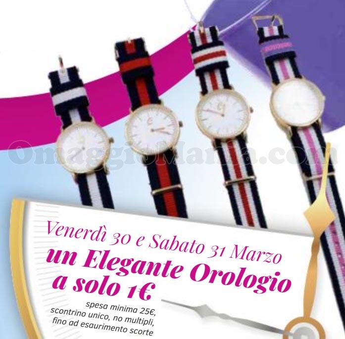 elegante orologio 1 euro Caddy's