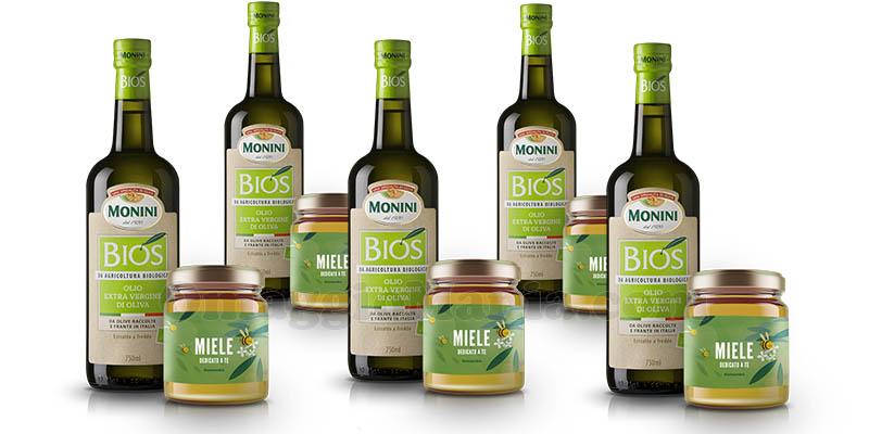fornitura Monini con olio Bios e miele bio