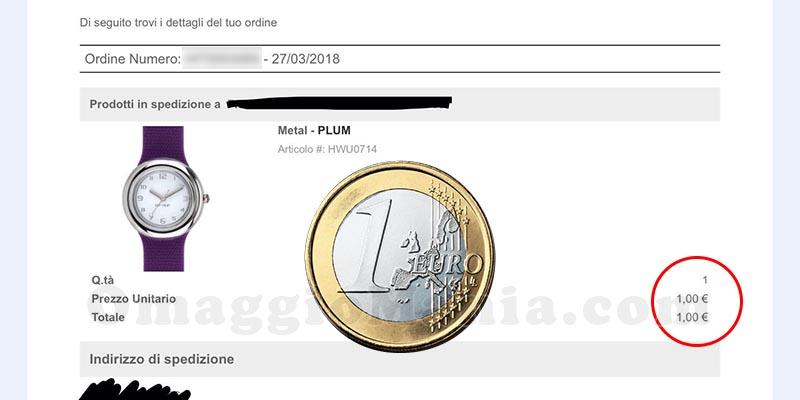 ordine orologio Hip Hop a 1 euro di Chicca87