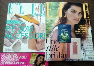 rivista Elle 3 e campioni omaggio di Mary