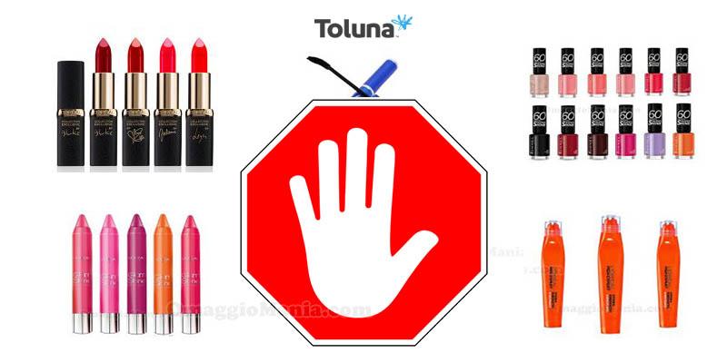 sospensione prodotti da testare Toluna