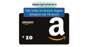 vincita buono Amazon 10€ con Chew Cool Vigorsol