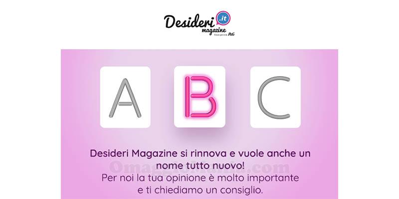 Desideri Magazine sondaggio nome nuovo