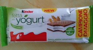 Kinder Fetta allo Yogurt campione omaggio di Stefy