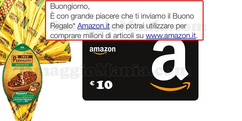 buoni Amazon con Pernigotti in arrivo