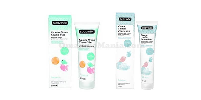 crema viso e crema cambio pannolino Suavinex