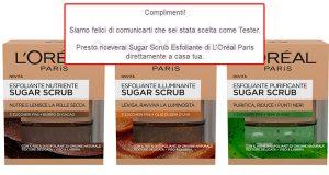 esfoliante Sugar Scrub L'Oréal Paris selezione tester