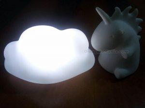 lampade led Aquafresh unicorno e nuvoletta di Miriana