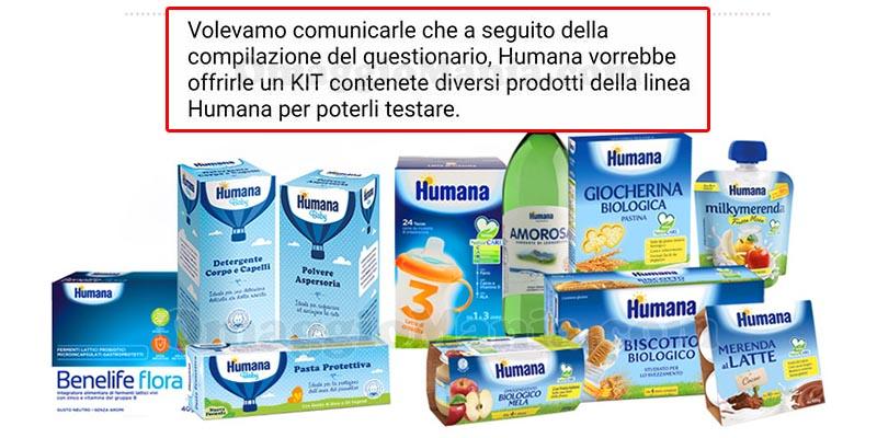 selezione kit prodotti da testare Humana