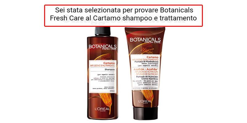 selezione tester Cartamo Botanicals Fresh Care