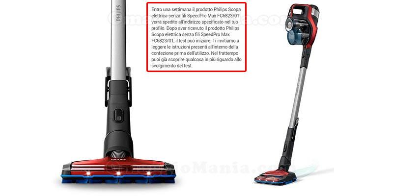 selezione tester scopa elettrica Philips SpeedPro Max