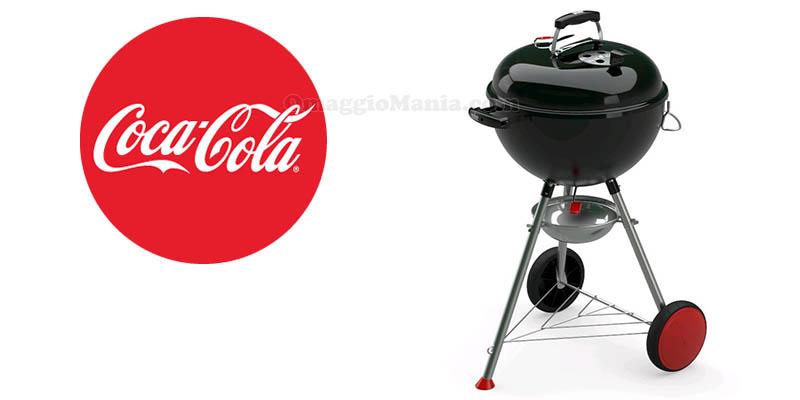 vinci barbecue Weber con Coca Cola