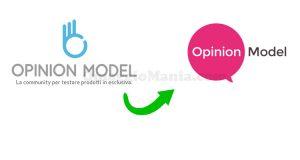 Opinion Model nuovo logo