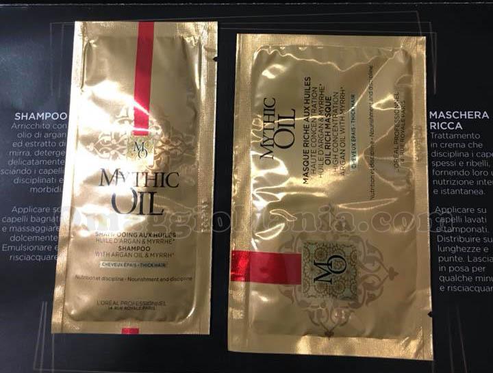 campioni omaggio L'Oréal Mythic Oil di Noemi