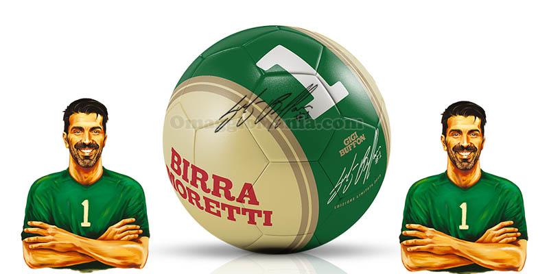 pallone autografato Gigi Buffon omaggio con Birra Moretti
