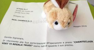 peluche Trudi Sweet Collection con Chanteclair Vert di Crystal