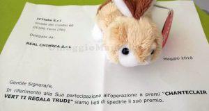 peluche Trudi Sweet Collection con Chanteclair Vert di Crystal