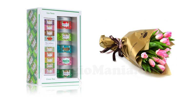 prodotti Kusmi Tea e bouquet Frida's