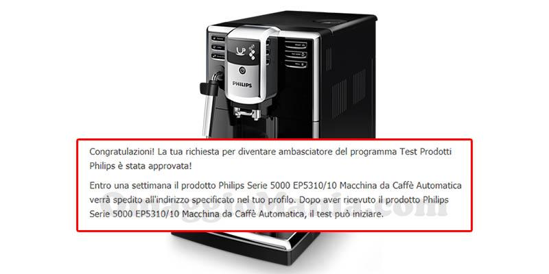 selezione tester macchina caffè automatica Philips Serie 5000