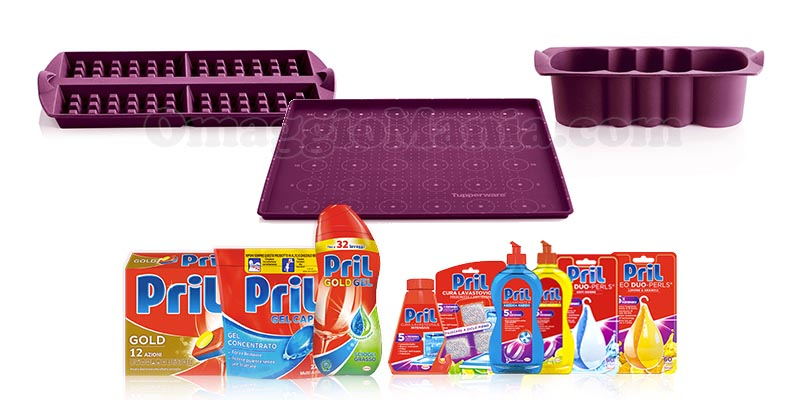 vinci set Tupperware con Pril