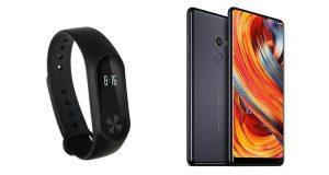 Xiaomi Mi Band 2 e Xiaomi Mi Mix 2