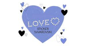 love sticker Swarovski
