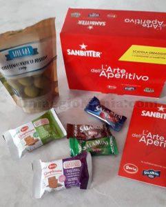 scatola omaggio aperitivo Sanbitter di Paola