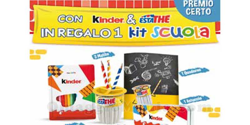Con Kinder & Estathé in regalo un kit scuola