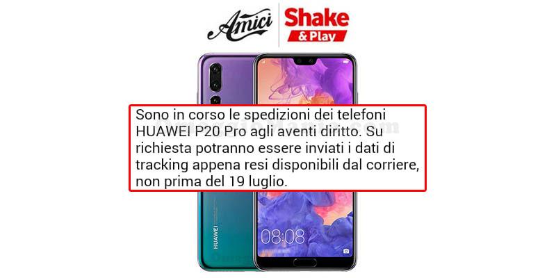 Huawei P20 Pro con Shake & Play aggiornamento