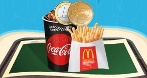 bibita piccola e patatina piccola McDonald's 1,50€