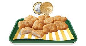 chicken McNuggets da 9 pezzi a 1,50€