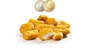 chicken mcnuggets 1.50 euro