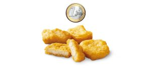 chicken mcnuggets a 1 euro