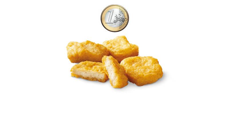 chicken mcnuggets a 1 euro