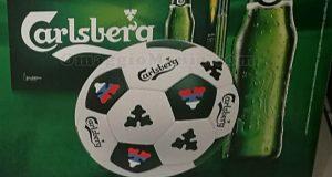 pallone Carlsberg omaggio