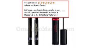 selezione tester mascara matitone EuPhidra con myBeauty
