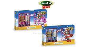 set da scuola Super Wings con Amadori