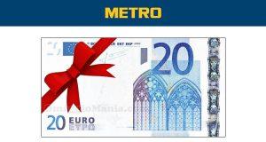 20 euro gratis con Metro
