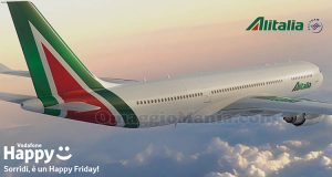 buono sconto Alitalia Vodafone Happy Friday