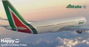 buono sconto Alitalia Vodafone Happy Friday