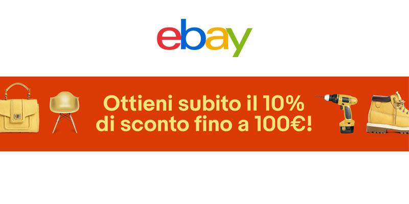 eBay 10% di sconto