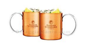 set copper mug Russian Standard Vodka