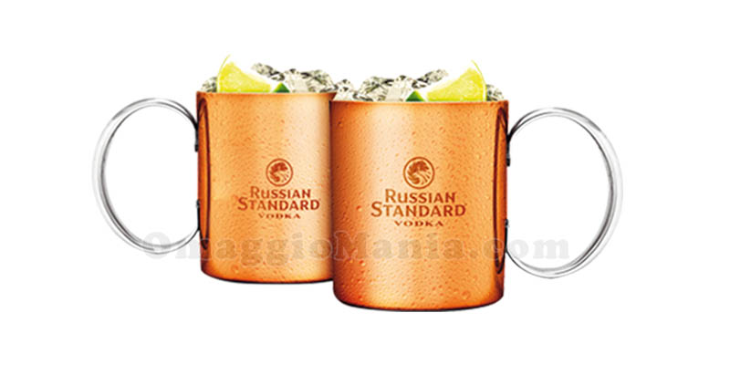 set copper mug Russian Standard Vodka