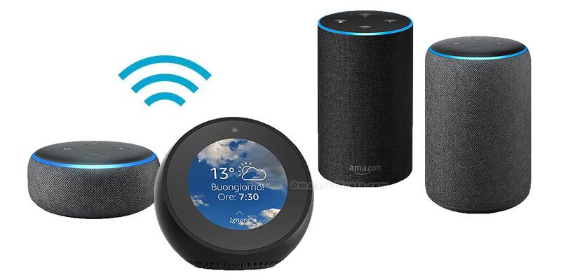 dispositivi Amazon Echo basati su Alexa