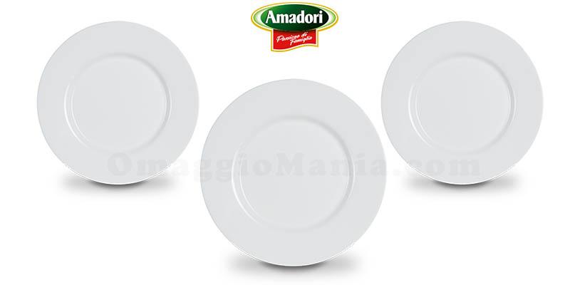 set piatti piani omaggio da Amadori